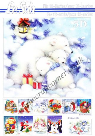 Christmas Cuties A5 3D Decoupage Book from Le Suh